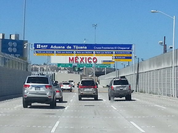 Driving to the Mexico border.